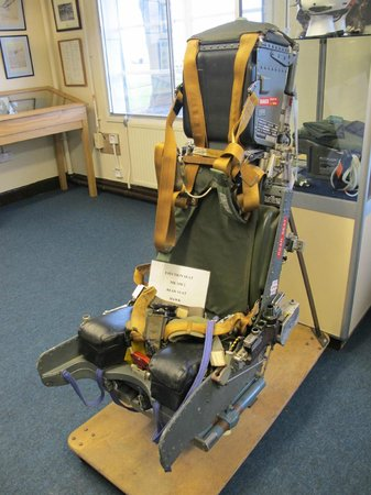 Royal Air Force Scampton Museum: Same type of ejector seat used on the fatal day