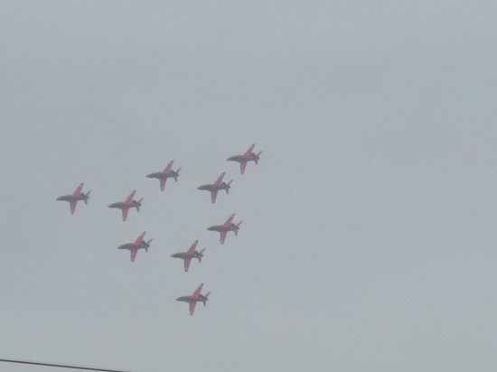 Royal Air Force Scampton Museum: Red arrows at Scampton,however not on the day of the visit