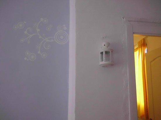 Casa Al Sur Terraza: pared de la habitación y puerta del baño