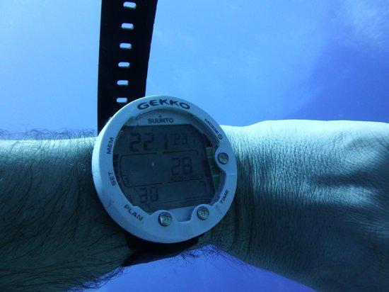 Dive Resort Seychelles: eau chaude