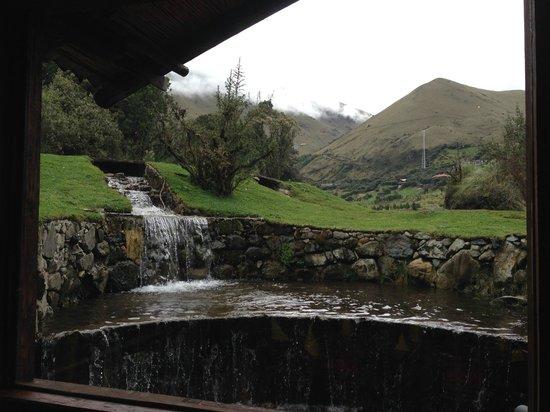 Hosteria dos Chorreras: View outside restaurant of El Cajas