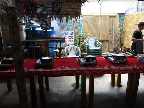 The Kitchen Restaurant Kata Beach & Thai Cooking Class: work stations