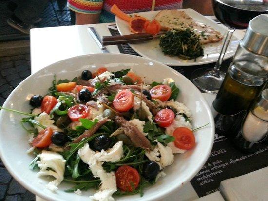 Ristorante Strega: Салат с анчоусами