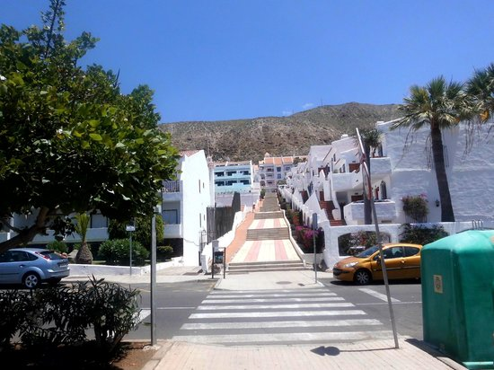 Hollywood Mirage Tenerife: The steps back up
