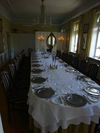 Sauntehus Castle Hotel: Top table for weddings