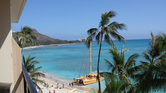 Outrigger Waikiki Beach Resort: ラナイからの景色
