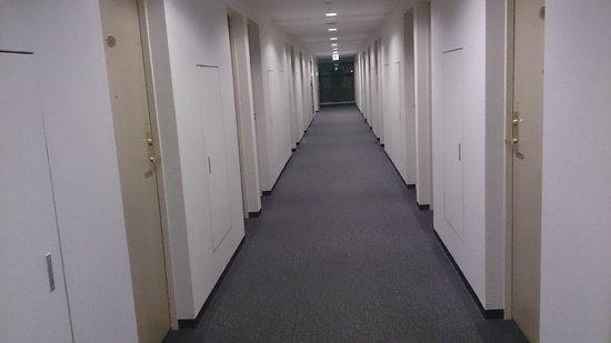 Court Hotel Shinyokohama : 廊下は清潔だが、地味?