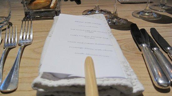 Springfontein Eats: the menu