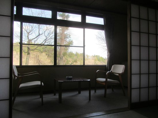 Nikko Tokanso : Our room overlooking the river.