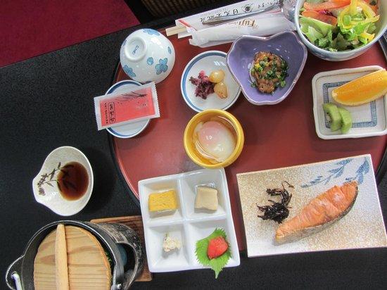 Nikko Tokanso : Partner's traditional Japanese breakfast.