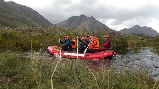 SA Forest Adventures Kleinmond: Getting ready to hit the rapids