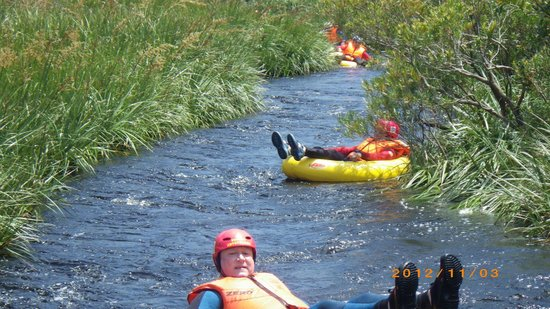 SA Forest Adventures Kleinmond: Relaxing and floating down stream