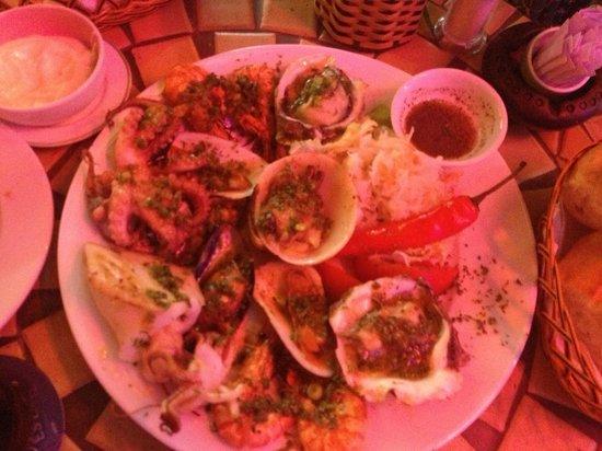 La Mancha Restaurant: ассорти из морепродуктов