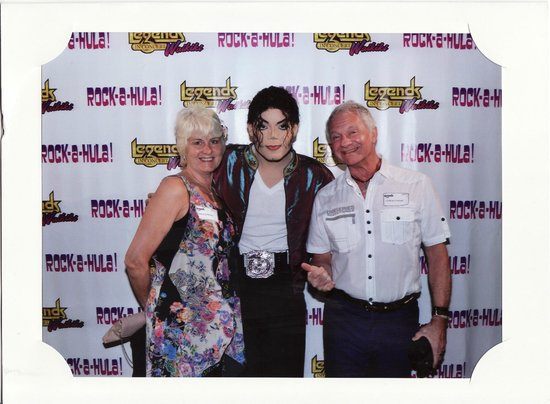 Rock-A-Hula: Elaine and I with Michael Jackson Impersonator