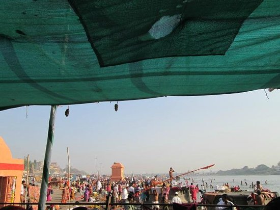 Pandharpur, Indien: view from pundlik temple !!