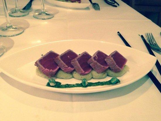 Asia de Cuba: Tonno in sesamo con purè al wasabi. Divino