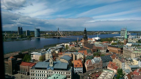 View of Riga from St Peter's Church Tower: Вид с башни