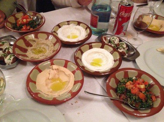 antipasti - foto di ristorante accademia libanese, milano ... - Cucina Libanese Milano