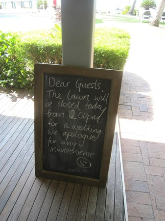 Coral Sea Resort: Nice touch