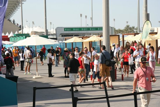Yas Marina Circuit : the hospitality area