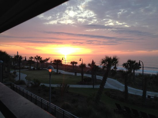 Bay View on the Boardwalk: Sunrise off our balcony