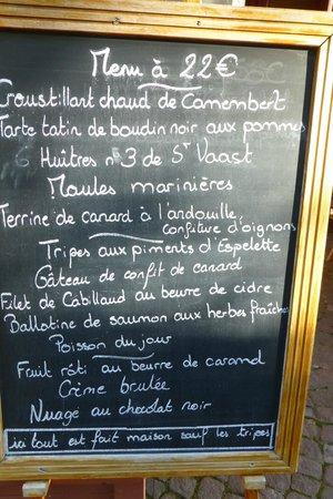 Au Bouillon Normand : pour vous mettre l'eau à la bouche