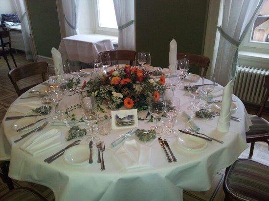Hotel Engiadina: Una bella tavola