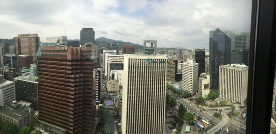 Lotte Hotel Seoul: View from room 24/F Club Room