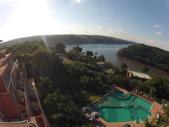 Amerian Portal del Iguazu: Maravillosa Vista Unión de los Ríos Iguazu y Parana