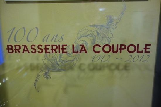 Brasserie historique La Coupole 1912: door sign