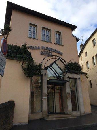 Villa Florentine: vue de l'entrée de l'hôtel (2013)