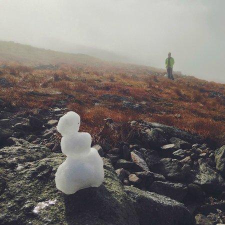 Mount Washington : Summer snowman on Mt. Washington