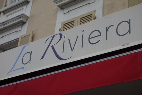 Brasserie Restaurant La Riviera: sign