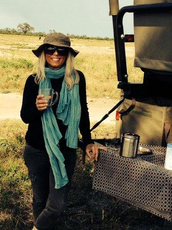 Savute Safari Lodge: Petit café du matin en brousse