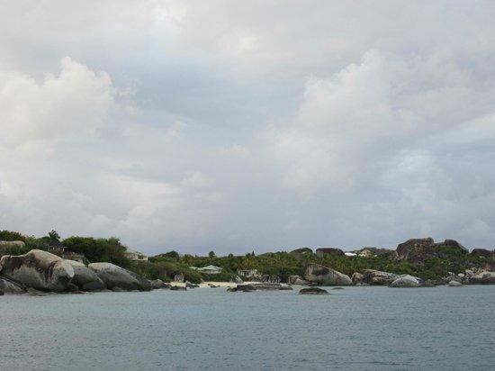 Virgin Gorda: Vu du bateau