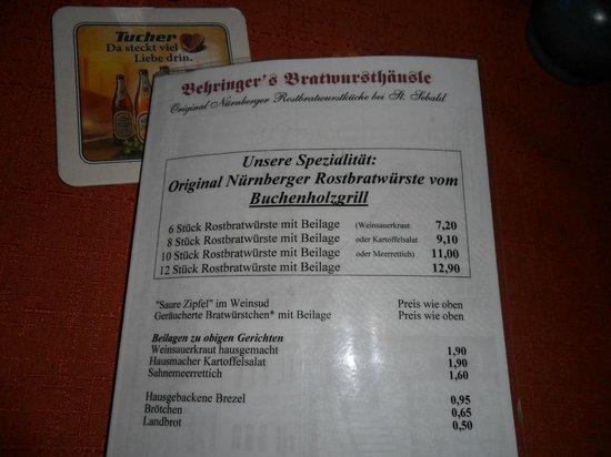 NH Forsthaus Fuerth-Nuernberg: Bratwurshäusle-Nürnberg Tip