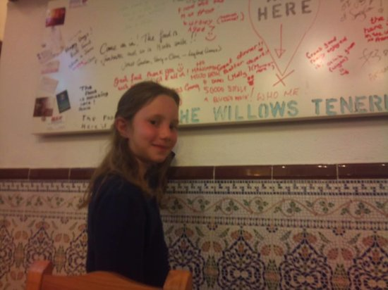 The Willows: We love children writing on our walls... Francesca Romana from Italy