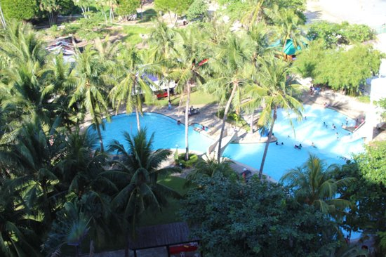 EGI Resort and Hotel : main swimming pool view from roof terrace