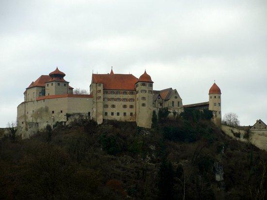 Harburg Castle: Vista de baixo