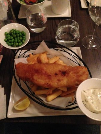 Ibis London Blackfriars : Fish & Chips at hotel's restaurant
