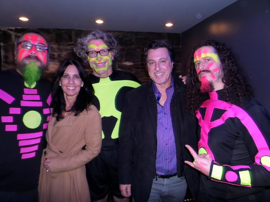 Blue Man Group: The Band with Rosario Cassata  and Carolyn.
