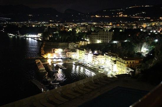 Hotel Belair: night view from private superior room balcony
