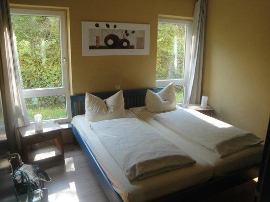 Becksteiner Rebenhof: Schlafzimmer des 2-Zimmer-Appartements