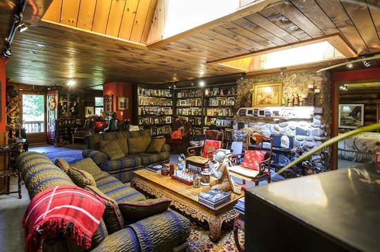 Shambhala Bed and Breakfast: Library