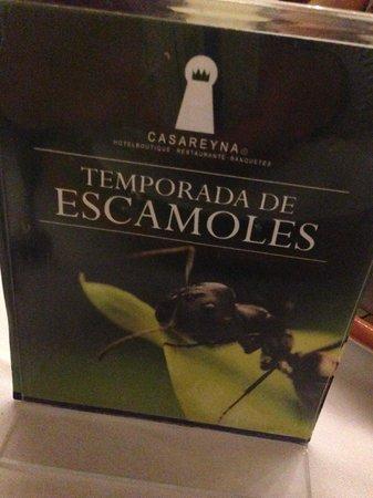 Casareyna : Temporada de escamoles...