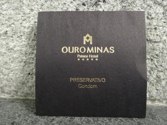 Ouro Minas Palace Hotel : Brindo do hotel