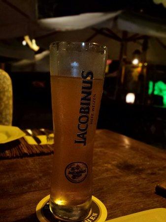 Restaurante Pé na Areia: Ótimas cervejas especiais