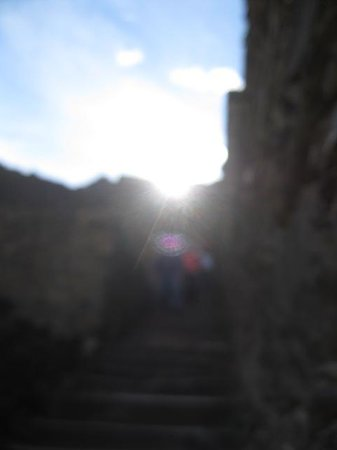 Temple d'Ollantaytambo : Sun doing mysterious things at the Temple