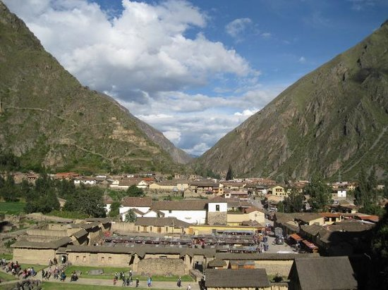 Temple d'Ollantaytambo : V notch where sun will rise in the morning