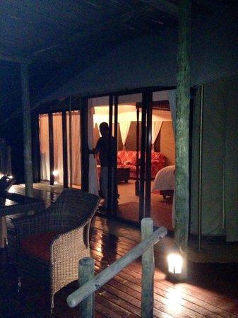 The Elephant Camp: Vue de la tente de la terrasse
